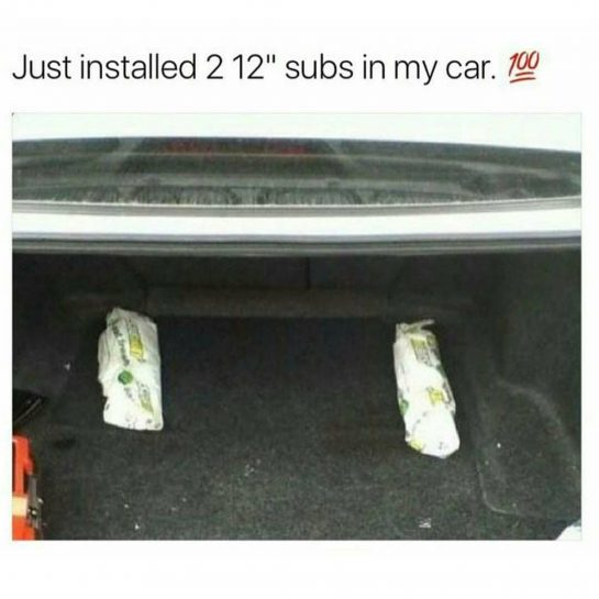 "just installed 2 12"" subs in my car!"
