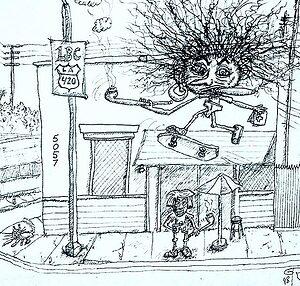 La Brea Collective knows #collective #dispensary #420 #weed #marijuana #420Problems#skateboard #skateboards #skater #skateboardart #art #penandink #architecture #drawing #streetart #urbanart #popart #characterdesign #character #cartoon #cartoonart #undergroundartist #freak #cannabis #cannabisculture #pothumor #pot #maryjane @gtrla via @gtrla