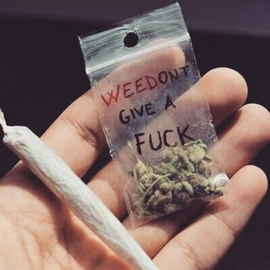 Of course we don't give a fuck when we have weed! 🥰 • •…