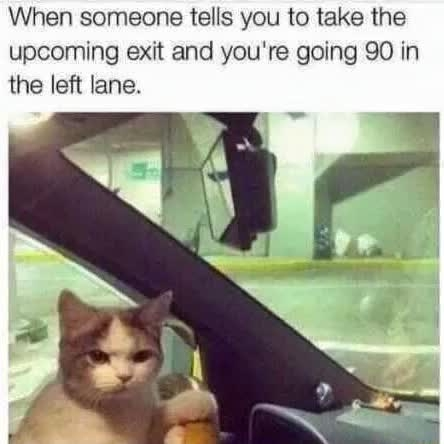 whatchu mean take this exit ?!