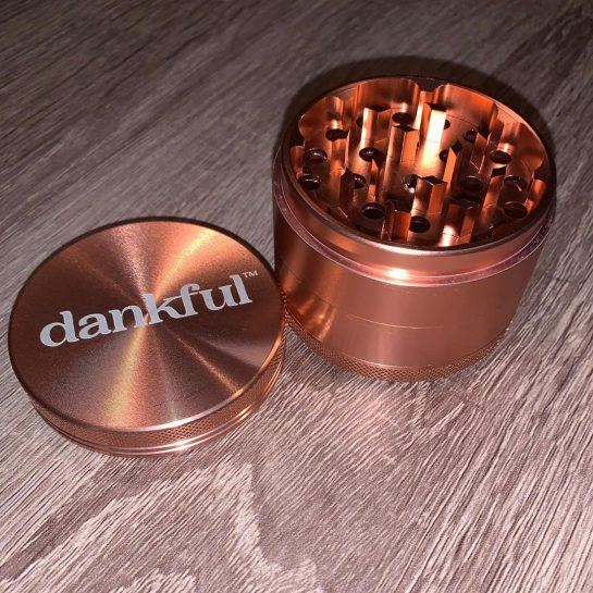 Rose Gold Dankful Grinder $ is now in stock and ready to ship on…