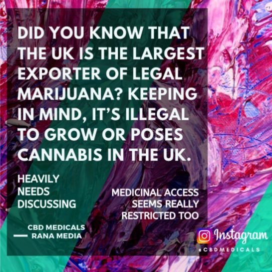 Did you know that the UK Leading Legal cannabis supplier YET its illegal to…
