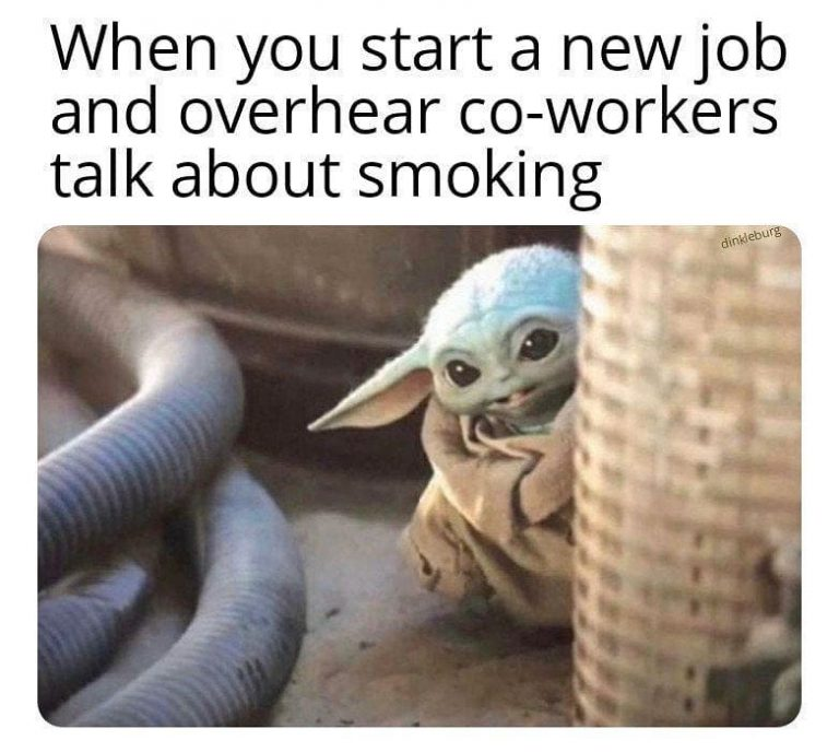 Found my people Tag ur smoke buddies u met at the job #babyyoda #smokeweedeverday…
