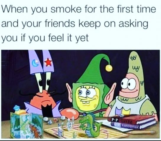 Do you feel it?🤔🤪 Comment if you do⤵️ . . . . #weedmeme #cannabismemes…