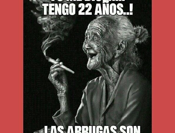 73 me 22 añ! …las arrugas son de tanto reírme! Ole mi abuela que…