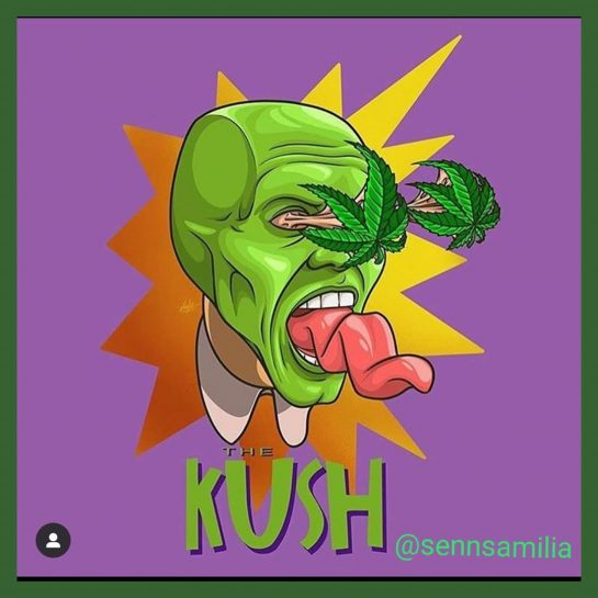 Smoke till you turn green – @sennsamilia #420club #smoke420 #themask #weedfeed #weed #420art #marijuanacommunity…