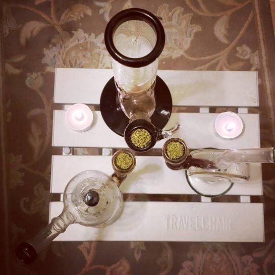 3 bongs, 2 candles, 1 gal ️ . . . . . . .…
