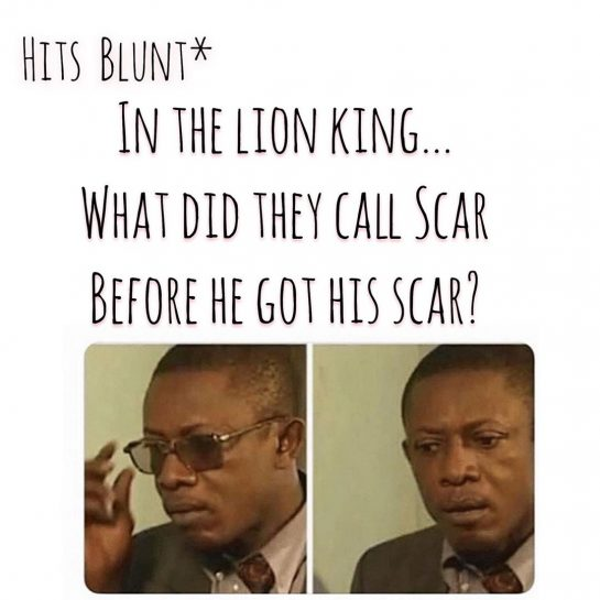 Unless he was born with that scar, like his Ma accidentally scratched him on…