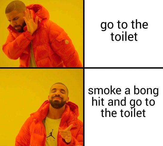 So it's a comfortable poop #meme #lovememes #poop #weedmeme #weed #bong #drake #memes #onlymemes…