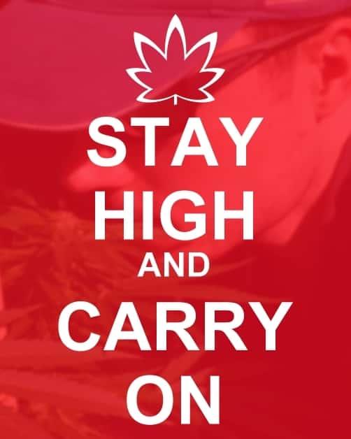 Stay High & Carry On! . . #cannabis #marijuana #weed #weedmeme #420meme