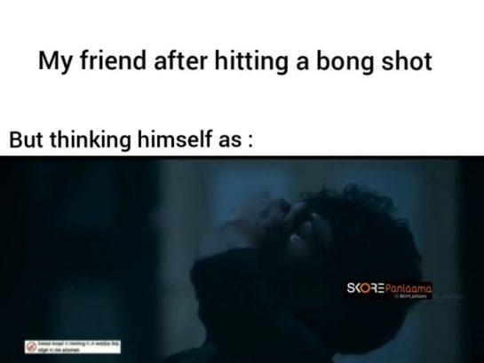 Oru Bong adichutu apdiye periya drug lord nu nenapu . #stonermeme #420meme #smokeweedeveryday #indiancannabissociety…