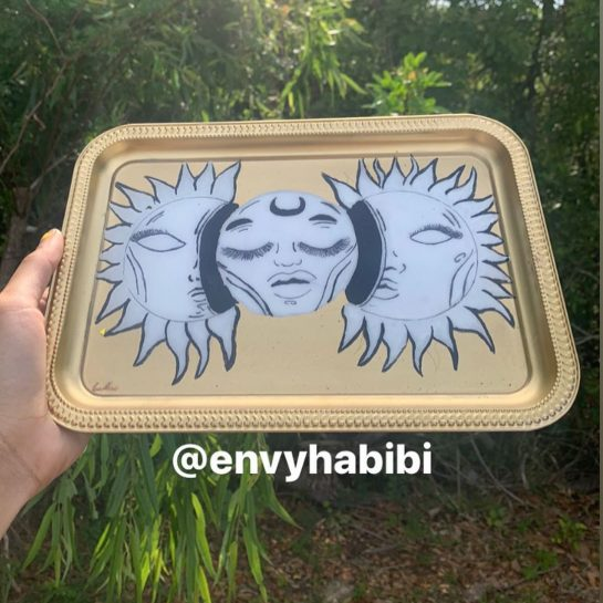 Sun & moon rolling tray For @ Interested in getting this tray recreated ?…