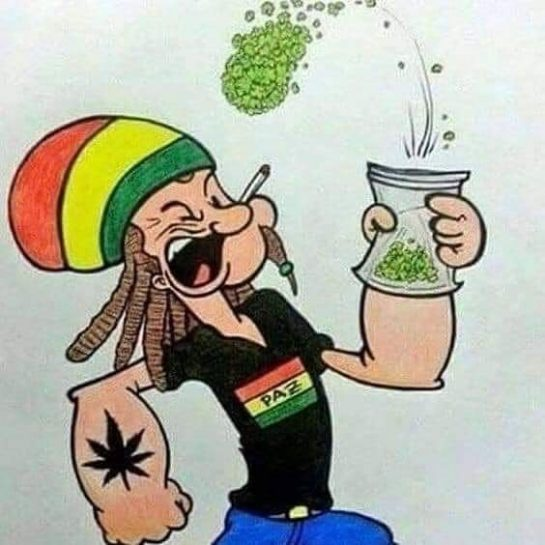 Popeye the stoner man . . . . . . . . . .…