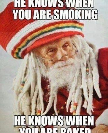 Rasta Claus, be good! #weedmeme #weed #weedmemes #memes #meme #cannabis #weedporn #stoner #weedhumor #marijuana…