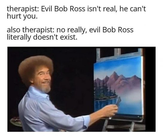The legend, the most humble guy. Bob Ross an inspiration. . . . .…