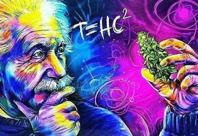 Dope/badass/sick photo of ALBERT EINSTEIN N some WEED ;)️ #alberteinstein #thc #stonerslife #420 #420community…